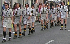 Girl Guides from the Polish ZHR, an associate member of the CES