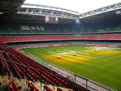 The Millennium Stadium of Cardiff opened for the 1999 Rugby World Cup