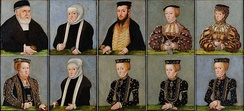 Jagiellon family of Sigismund I, Sophia second to last on the bottom row