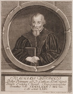 Joachim Westphal disagreed with Calvin's theology on the eucharist.