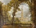 John Constable—View of Salisbury Cathedral, 1823