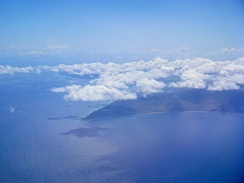 Aerial photo of Kaʻena from the west