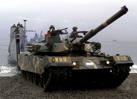 A Republic of Korea K1 Main Battle Tank