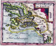Map of the Republic of Ragusa, dated 1678
