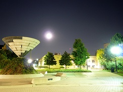 The Martin Luther King Commons at night
