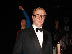 A wax sculpture of Caine in his Harry Palmer character from The Ipcress File, at Madame Tussauds, London