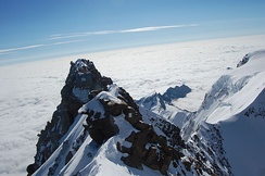 View from the summit of Switzerland's highest, Monte Rosa
