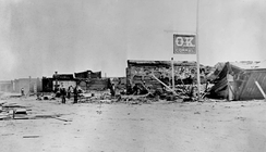 O.K. Corral after a fire in 1882