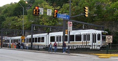 Pittsburgh Light Rail at Station Square