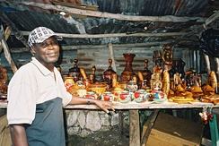 Artisan in Port-au-Prince.