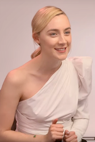 Ronan promoting Lady Bird (2017). She received her third Academy Award nomination for her performance in the film.