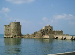 Sidon Sea Castle, built by the Crusaders in AD 1228
