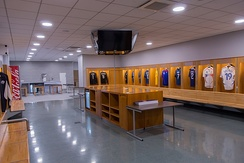 Visitors changing rooms