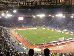 Stadio Olimpico, home of A.S. Roma and S.S. Lazio, is one of the largest in Europe, with a capacity of over 70,000.[161]