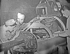 B-17 Tail position maintenance – MacDill AAF Florida – 1944