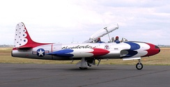 T-33A Shooting Star narrator/VIP/Press ride aircraft.