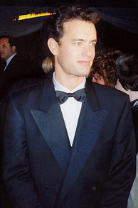 Hanks at the Academy Awards after party in March 1989