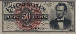 Abraham Lincoln – 50¢ Fractional currency