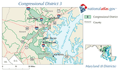 United States House of Representatives, Maryland District 3 map.png