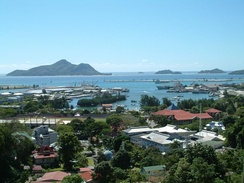 Victoria, the capital of Seychelles