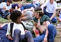 Two men at the Woodstock Festival, 1969