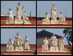 Cluster of statues atop Writers' Building