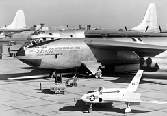 XB-52 Prototype on flight line (X-4 in foreground)