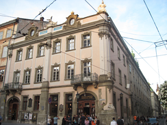 The Prosvita Society was headquartered at Lubomirski Palace, Lviv