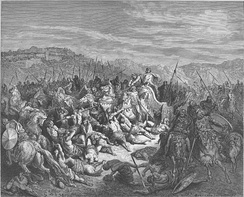 Illustration by Gustave Doré from the 1866 La Sainte Bible depicting an Israelite victory over the army of Ben-Hadad, described in 1 Kings 20:26-34