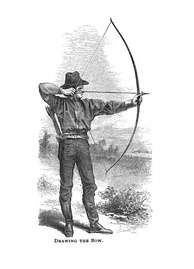 Drawing a bow, from a 1908 archery manual