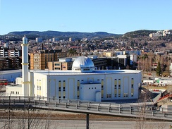The Baitun Nasr Mosque on the outskirts of Oslo is the largest mosque in Norway[240]