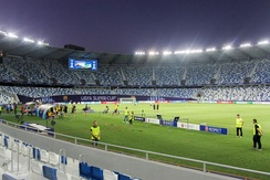 Preparations for the 2015 UEFA Super Cup at the Dinamo Arena in Tbilisi.