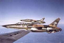 388th Tactical Fighter wing F-105F Wild Weasel aircraft, flying from Korat RTAFB, Thailand, 1972