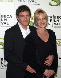 Griffith and husband Antonio Banderas at the 2010 Tribeca Film Festival