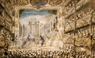 A performance of Lully's opera Armide in the Salle du Palais-Royal in 1761