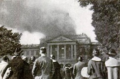 Bascom Hall fire that destroyed the dome in 1916[18]