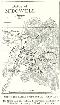 A map of the battle by Jedediah Hotchkiss