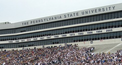 A view of the lettering and years added to the suites in 2006. Each year is a significant Penn State season