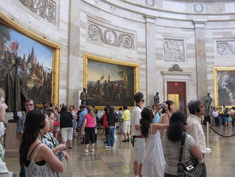 Tour Groups inside the Rotunda