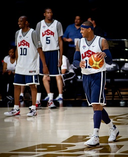 Carmelo Anthony with Team USA in the Olympics