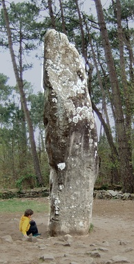 The Géant du Manio, a menhir in Carnac, Brittany