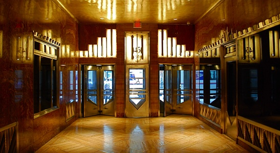 Lobby of the Chrysler Building by William Van Alen in New York City (1930)