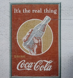 This Coca-Cola advertisement from 1943 is still displayed in Minden, Louisiana