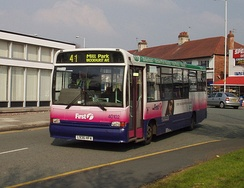 First Chester & The Wirral C37 bodied Dennis Dart in Bromborough in March 2007