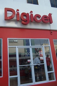 A Digicel storefront in Castries, Saint Lucia, in 2012