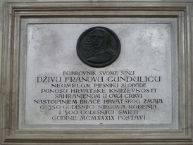 Tomb of Ivan Gundulić in the Franciscan church, Dubrovnik
