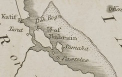 A map of East Arabia in 1794.