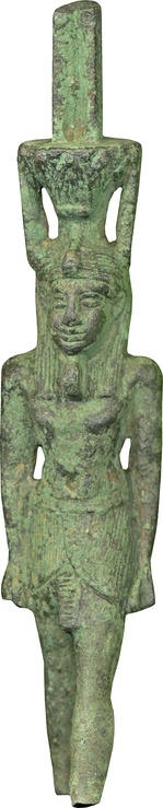 This ritualistic object depicts the god Nefertem, who was mainly worshipped in Memphis.[16] The Walters Art Museum.