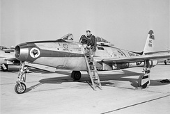 The 162nd FS flew the F-84E Thunderjet from 1955–1957