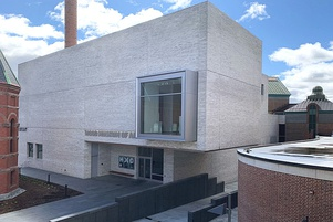 The Hood Museum of Art's north facade designed by Tod Williams and Billie Tsien Architects. Photo by Alison Palizzolo.